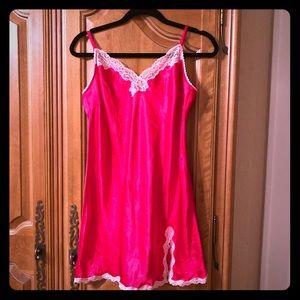 BRAND NEW Red Victoria's Secret Large lace slip